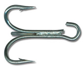 Mustad 3X Strong Tinned Open Eye Treble Hooks